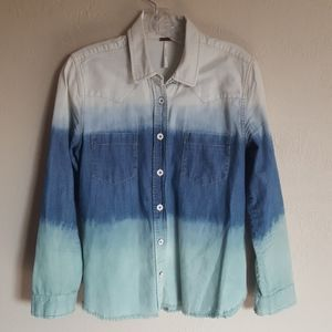 Free People Before Sunrise Ombre shirt